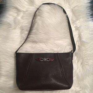 Authentic Brighton Brown Leather Shoulder Bag